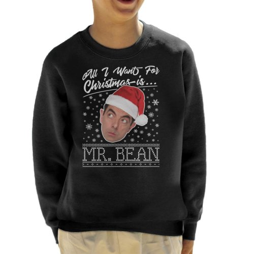 All I Want For Christmas Is Mr Bean Knit Kid's Sweatshirt