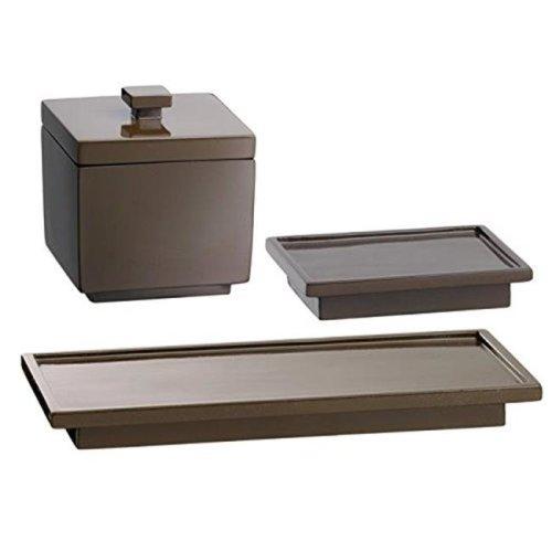 Kraftware Corp 13902 Hemingway Soap Dish & Accessory Jar Amenity Tray, Set of 3