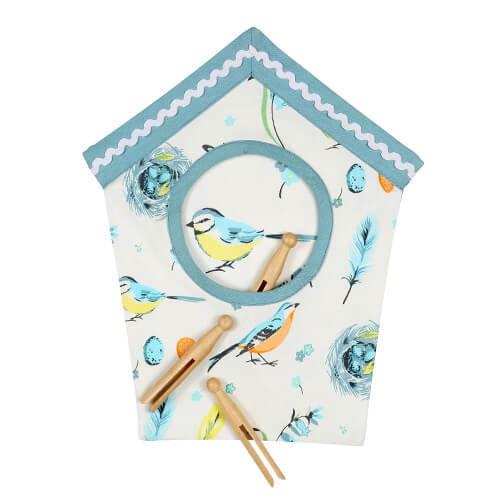 Dexam Vintage Songbird Pegbag Peg Bag Hand Painted Design