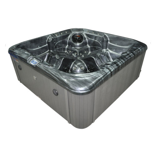 Brook Stream 5 Person 13 Amp Hot Tub, Cloudy Black Shell Grey Sides