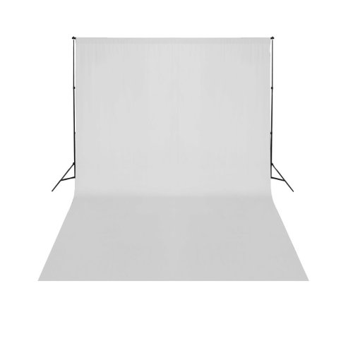 vidaXL Telescopic Background Support System + White Backdrop 3x5m Backdrop