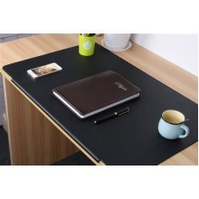 TPU Desktops Mate with Lip - Mouse/Writing/Typing Pad - Desk Protector for Offfice & Home - Laptops Desk Mat - Black
