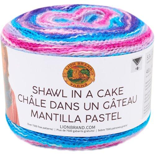 Lion Brand Shawl in a Cake Yarn-Half Moon
