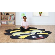 Childrens Back to Nature™ Bumble Bee Shaped Indoor Carpet
