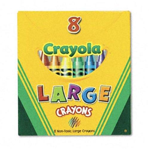 BIN80 CRAYOLA LARGE SIZE TUCK BOX 8PK