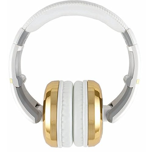 The Sessions Professional Closed Back Studio Headphones by CAD Audio White with Gold