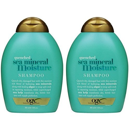OGX Shampoo, Quenched Sea Mineral Moisture, 13 Ounce (Pack of 2)