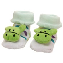 3 Pairs Non-slip Newborn Baby Toddler Socks Comfortable Warm Stockings Baby Birthday Gift For 6-12 month-A07