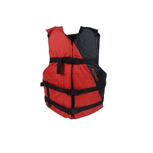 Flowt Multi Purpose 40202 2 OS Multi Purpose Life Vest Type III PFD Red Adult Oversize Fits chest sizes 52 62