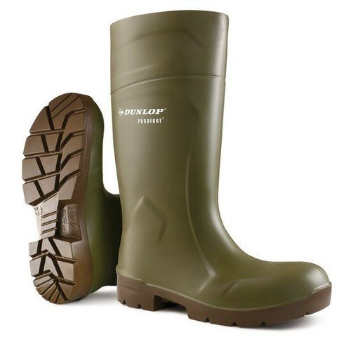Dunlop CA6183103 Purofort Multigrip Green Wellington Boots Steel Toe Cap Size 3