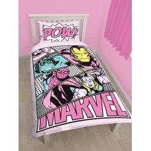 Marvel Comics Pastels Single Duvet Cover Set Polycotton