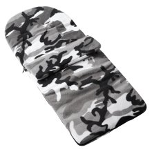 Fleece Footmuff Compatible With Babybus Sunset - Grey Camouflage