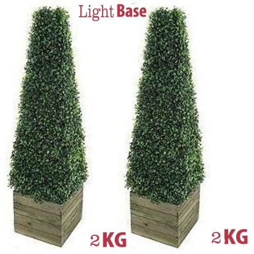 2 x Artificial Trees 3ft Pyramid Cones Indoor Outdoor Topiary trees