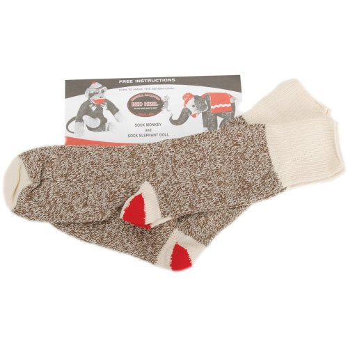Fox River Red Heel Monkey Socks 2 Pairs-Small Brown Heather