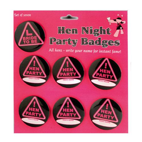 Alandra Personalised Set Of 7 Badges - Hen Party Night Accessories Bride x -  hen party night badges accessories bride x 7