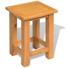 vidaXL End Table Solid Oak 27x24x37 cm