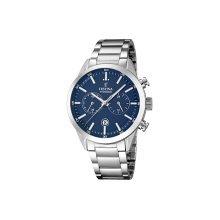 Festina F16826/2 Men's with Blue Dial Silver Bracelet Quartz Watch