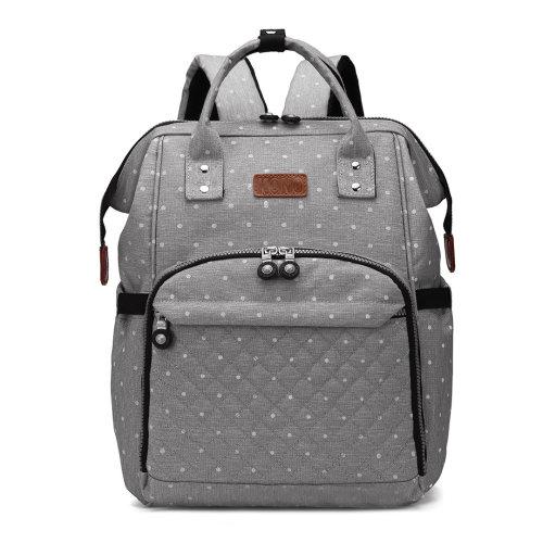 KONO Baby Changing Bag Diaper Nappy Backpack School Bag Grey