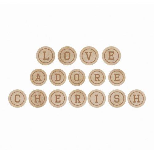 Kaisercraft Wooden Letter Words-Love, Adore & Cherish