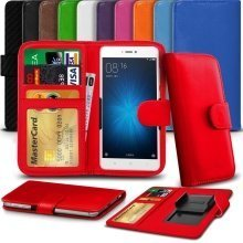 "iTronixs - AGM X1 (5.5"") High Quality Clamp Style PU Leather Wallet Case Cover"