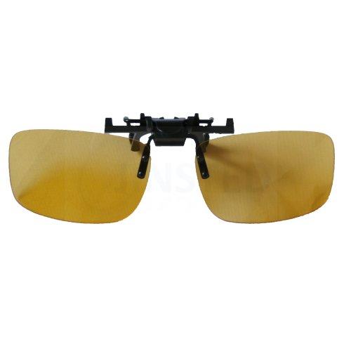 Large Yellow Clip On Flip Up Sunglasses AC004