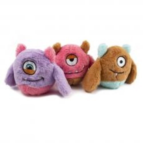 Ancol Monster Bunch Assorted Purple/brown/pink 21cm (Pack of 3)