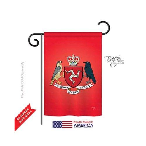 Breeze Decor 58200 Isle of Man 2-Sided Impression Garden Flag - 13 x 18.5 in.