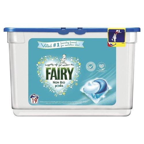 Fairy Non-Bio Pods Laundry Detergent Washing Capsules Sensitive Skin - 19 Washes