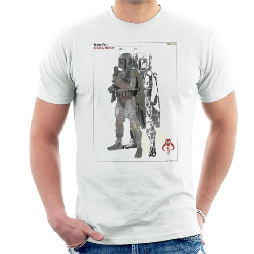 Star Wars Boba Fett Bounty Hunter Slave I Men's T-Shirt