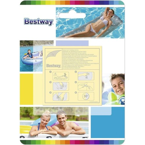 Bestway 2 x 10 PACK Inflatable Repair Patch Adhesive Clear Heavy Duty