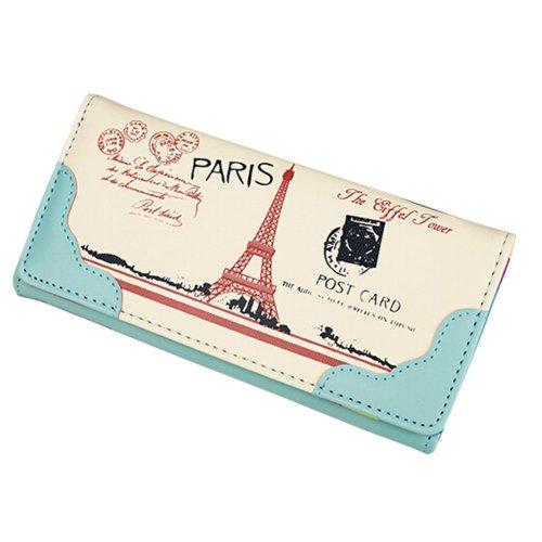 Elegant PU Long Wallet Purse Clutch Wallet Card Holder (Green)