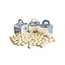 Pack of 3 Gold Foiled Chocolate Balls Filled Holographic Star Silver Cube Balloon Weight Favour Boxes