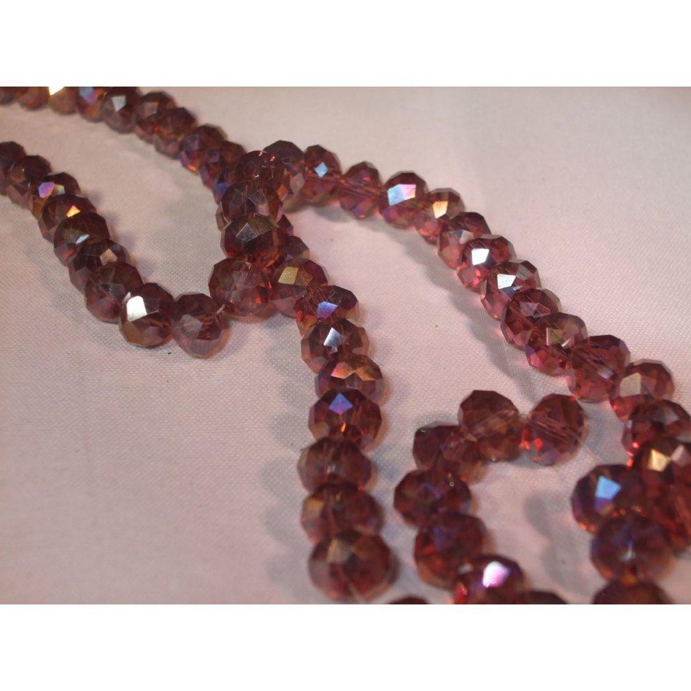 Glass Bugle Beads 40g 6mm x 1.8mm Blue Mix