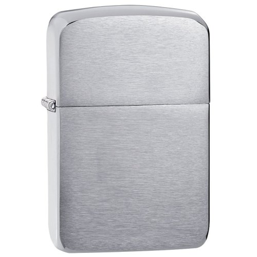 1941 Replica Brushed Chrome Zippo Lighter