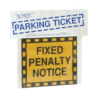 Bristol Novelty Joke Parking Ticket