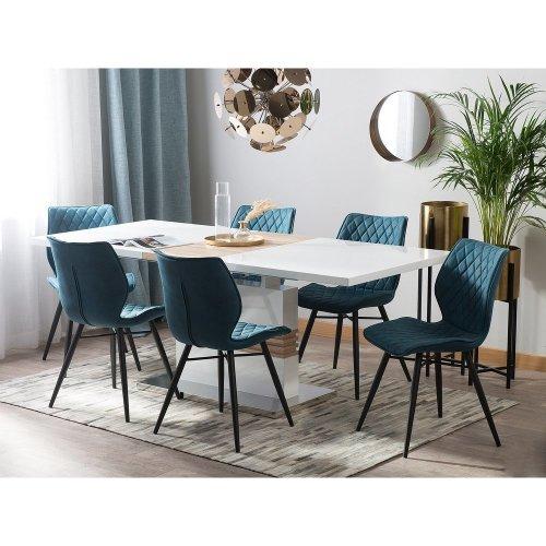 Extending Dining Table 160/200 x 90 cm White SANTANA