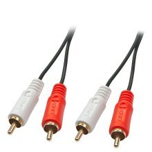 Lindy 35660 1m 2 x RCA 2 x RCA Red,White