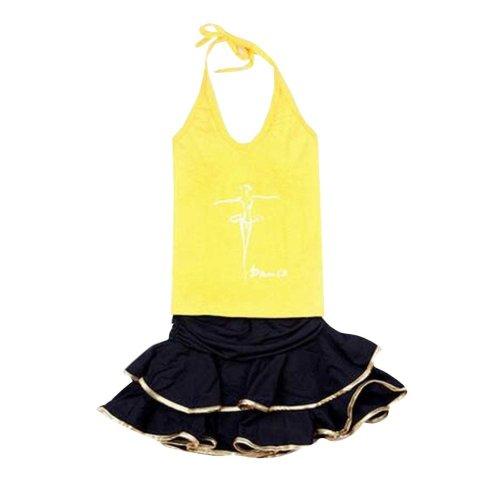 Leotard Latin Dress Dance Wear Skirt for Baby Girl
