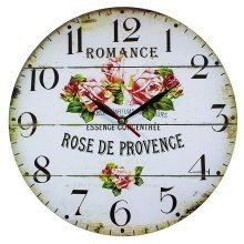 Obique Home Decoration MDF Rose de Provence Scene Wall Clock 34cm