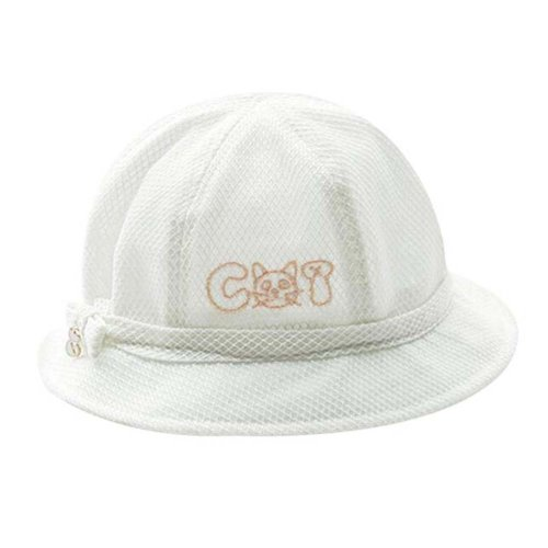 White Lovely Sunhat Great Gift Foldable Beach Hat Summer Hat Cotton Hat Baby Cap