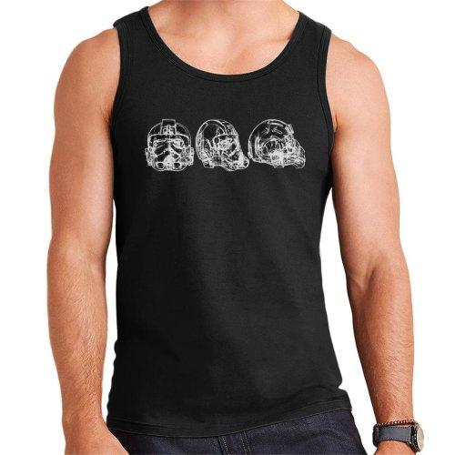 Original Stormtrooper Imperial TIE Pilot Helmet Abstract Men's Vest
