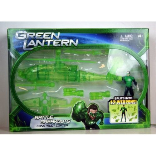 Green Lantern Movie Exclusive Vehicle Playset Battle Breakout Construct Copter