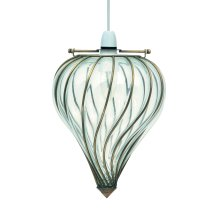 Glass Windsock In Ant Brass Easy Fit Pendant