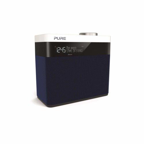 Pure Pop Maxi S Portable Stereo DAB/DAB+/FM Radio with Bluetooth/Alarm - Navy