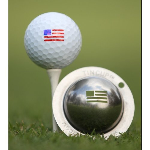 Tin Cup Ball Marking System - Stars and Stripes