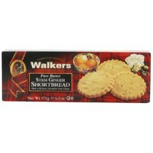 Walkers Shortbread Stem Ginger Shortbread, 6.2-Ounce Boxes (Pack of 4)