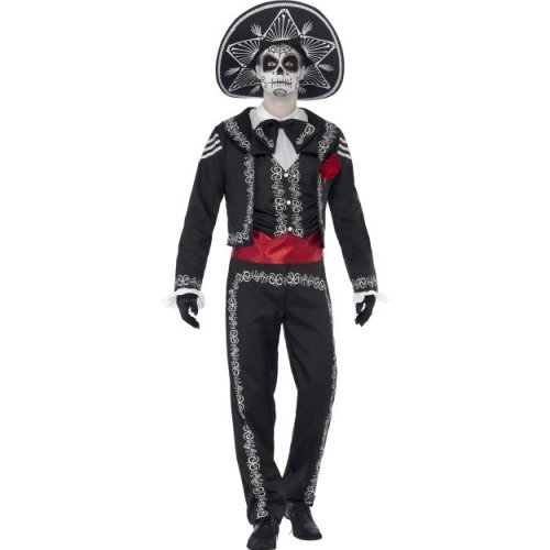 Day of the Dead Senor Bones Skeleton Costume (Medium) | Halloween