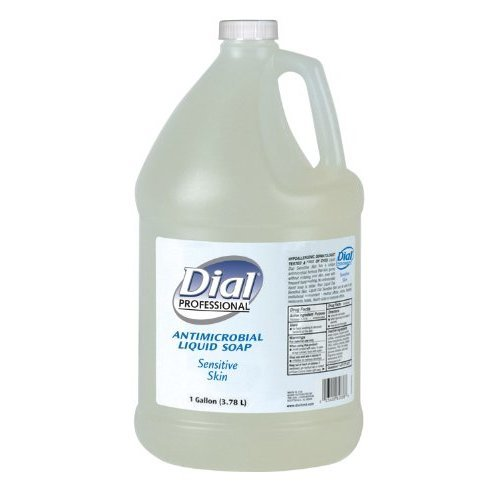Dial 724696 Light Floral Clear Antimicrobial Sensitive Skin Liquid Hand Soap, 1 Gallon Bottle (Pack of 4)