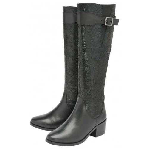 Ladies Ravel Gordo Knee High Slim Leg Riding Boots