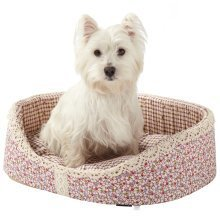 Bunty Blossom Dog Bed Soft Washable Flower Fabric Cushion Warm Luxury Pet Basket